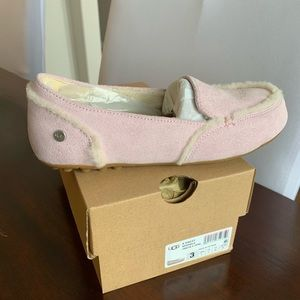 New Girls Ugg Pink Hailey Sparkle Slipper Size 3